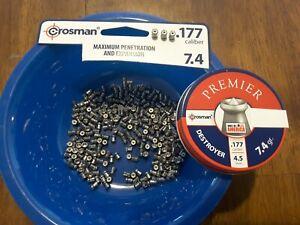 Crosman premier DESTROYER 7.4 grain .177 cal air rifle pellets