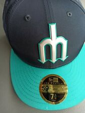 Seattle mariners new era fitted hat size 7 5/8