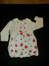 Red Rose Summer Romper by CLASS CLUB BABY 6 months & Carter's White Sweater