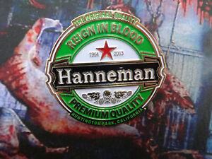 Hanneman Badge Pin Metal Import Sehr Edel Thrash Metal Slayer Reign In Blood
