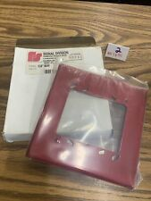 New listing Semi Flush Mounting Plate Red For Fire Alarm Devices. No Screws
