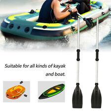 2x aluminium détachable kayak canoë rafting bateau à rames avirons outils légers
