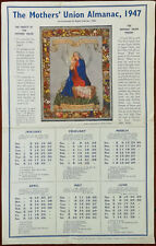 The Mother's Union Almanac, Mother's Union Prayer, Calendar Card 1947