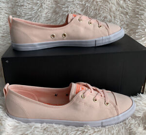 Women's Sneakers Size 10 Converse CTAS Ballet Lace Slip Coral/orange 564313C