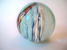 MURANO ART GLASS Paperweight Latticino Multicolor Ribbons