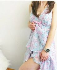 Pink And Blue Layered Nighty With Bows Peter Alexander