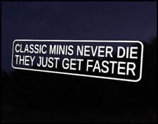 Classic Mini Faster Car Decal Sticker JDM Vehicle Bike Bumper Graphic Funny