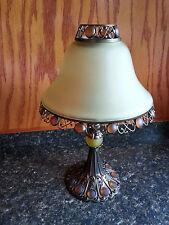 PartyLite Paris Metro Retro Tealight Candle Lamp Retired P7798 Amber Art Nouveau