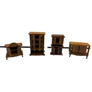 Dollhouse miniatures Furniture Lot 17 Pieces Please Read