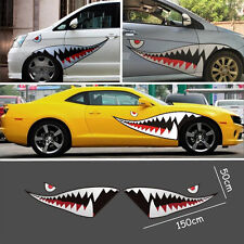 59'' Car Exterior Side Door Decal Shark Mouth Tooth Teeth Sticker Vinyl Stickers