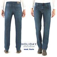 Jeans HOLIDAY uomo Verin elasticizzato stretch zip front regolare super morbido