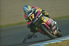 Randy de Puniet Hand Signed Aprilia 250cc 2002 12x8 Photo.