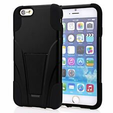 New VAKOO [Kickstand Series] iPhone 6 Plus Dual Defender Protection Case Black