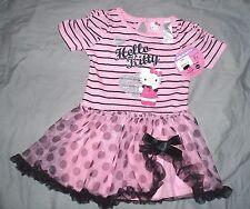 robe  coton sanrio hello kitty taille 24 mois neuve etiquetée