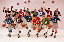 FOOTBALL QUARTERBACKS 8X10 PHOTO NFL FOOTBALL PICTURE UNITAS STARR TITTLE