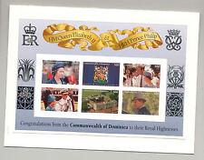 Dominica 1997 Queen Elizabeth Golden Wedding M/S of 6 & 1v S/S Chromalin Proofs