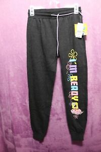 NEW⚜Girl's Printed sweat pants by Nickelodeon size XS~black Heather/SpongeBob