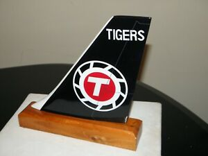 FLYING TIGERS WOOD DESK MODEL AIRPLANE TAIL FEDEX  ATLAS AIR FREIGHT PILOT GIFT!