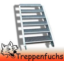 6 Stufen Stahltreppe Breite 120 cm Geschosshöhe 90-120cm inkl. Zubehör