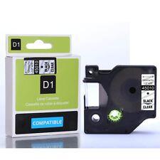 Compatible Dymo 45010 D1 Black on Clear 12mm x 7m Label tapes (S0720500) VAT inc