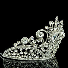 4 inches height Tiara Crown Swarovski Crystal for Bridal Wedding, Pageant