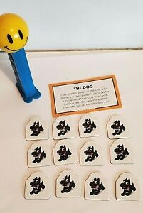 Monopoly Junior Replacement Game Piece Set: Dog Card, 12 Sold Signs