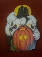 Vintage Biestle Halloween 1983 Die Cut Haunted Ghosts Jack-o-Lantern  Decoration