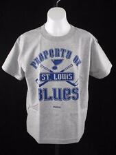 New NHL St. Louis Blues Youth Medium M 10-12 Reebok Gray Shirt