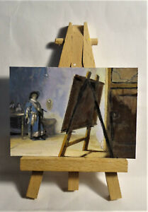 The Artist in his Studio ACEO Original PAINTING by Ray Dicken a Rembrandt