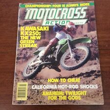 MOTOCROSS ACTION MARCH 1978 KX250-A4 WORKS SHOCKS ANAHEIM SX 4 STROKE NATS AHRMA