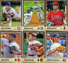 """2015  TOPPS    """"GOLD BORDER""""   UPDATE SERIES   PICK YOUR OWN 10 CARD LOT"""