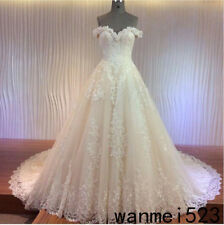 A line Sweetheart Country Wedding Gown Cathedral Train 2018 Beach Bridal Dress