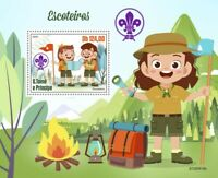 Sao Tome & Principe Scouting Stamps 2020 MNH Girl Boy Scouts Nature 1v S/S