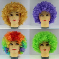 Multi Color Afro Wig Clown Disco Circus Costume Cosplay Curly Hair Wig Top