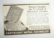 1925 Cortright Metal Shingles Advertisement Cortright Metal Roofing Co. Philadel