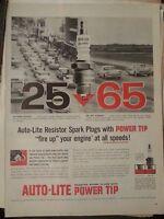 1958 AC Spark Plugs Auto Lite Car Parts Resistor Power Tip Print Ad