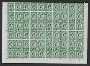 Sheet of 60 MINT Grenada 1c green stamps.