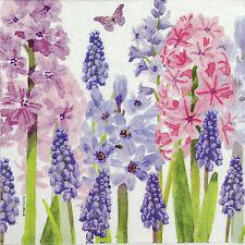4x Tovaglioli di carta per Decoupage Decopatch Craft Flower Garden