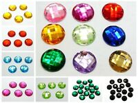 100 Flatback Acrylic Sewing Round Rhinestone 16mm Sew on beads Pick Your Color