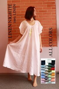 LINEN DRESS / Linen night dress / Linen nightgown / Slip linen dress