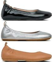 FitFlop ALLEGRO Ladies Womens Real Leather Slip On Ballerina Ballet Shoes Pumps