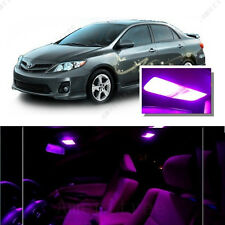 For Toyota Corolla 2003-2013 Pink LED Interior Kit + Pink License Light LED