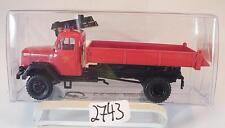 Brekina 1/87 Magirus Eckhauber LKW Kipper Feuerwehr neutral OVP #2743