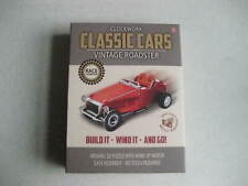 CLOCKWORK WIND UP CAR TOY KIT VINTAGE ROADSTER CLASSIC CAR CRAFT RETRO FREE POST
