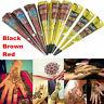 3 Colors Body Art Paint Natural Herbal Henna Cones Temporary Tattoo Mehandi Kit.