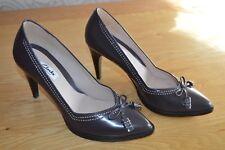 Clarks 'Narrative' purple leather shoes/'heels'  - size 5