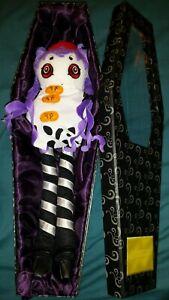 "RARE Nightmares & Fairy Tales 16"" Annabelle Plush Doll Coffin 2003 SLG Goth NEW"
