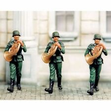 SOL RESIN FACTORY, MM080, 1:35, FRENCH HORN PLAYER (3 FIGURES)