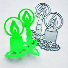 Delicate Xmas Candle framed Metal Cutting Dies Scrapbooking Card Craft DecorSC