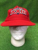 Vtg Super Bowl XXIII San Francisco 49ers Niners Montana Rice SnapBack Hat Cap